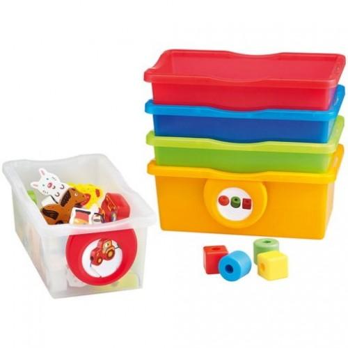 NATHAN Cajitas plasticas multicolor lote 5