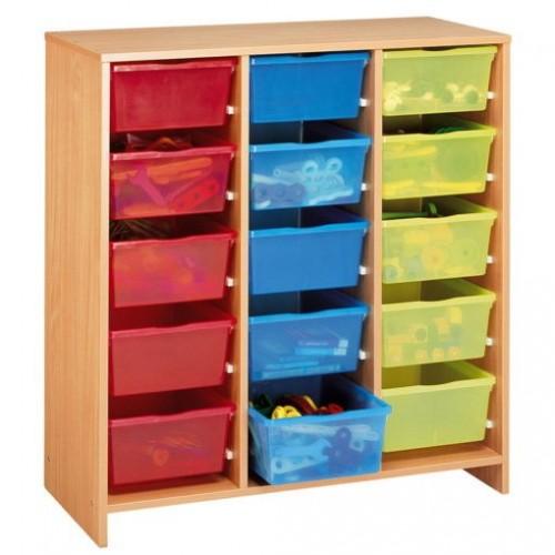 NATHAN Gavetero 15 cajones de varios colores