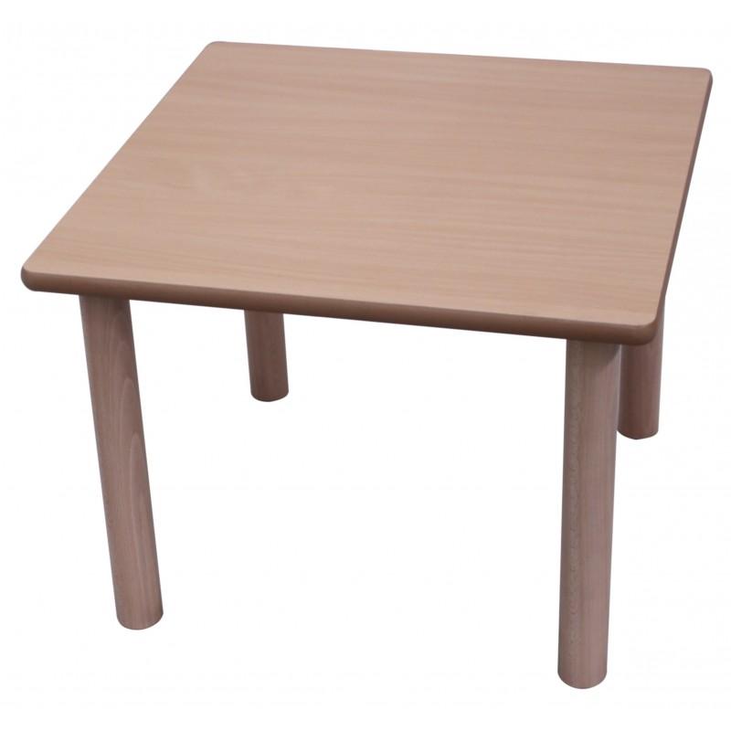 Mesa infantil cuadrada 80x80 madera