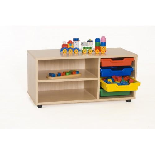 Mueble superbajo estantería cubetero 900