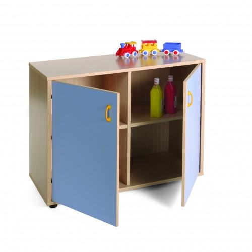 Mueble bajo armario 4 casillas 2 puertas