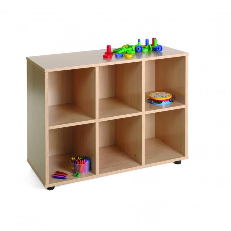 Mueble bajo 6 casillas