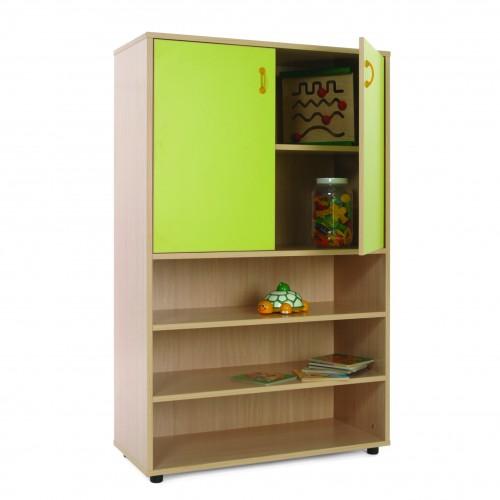 Mueble medio estantería y armario