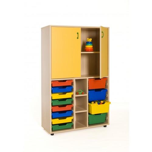Mueble medio cubetero y armario