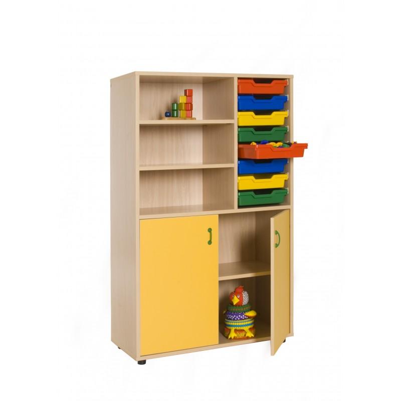 Mueble medio armario y estantería cubetero