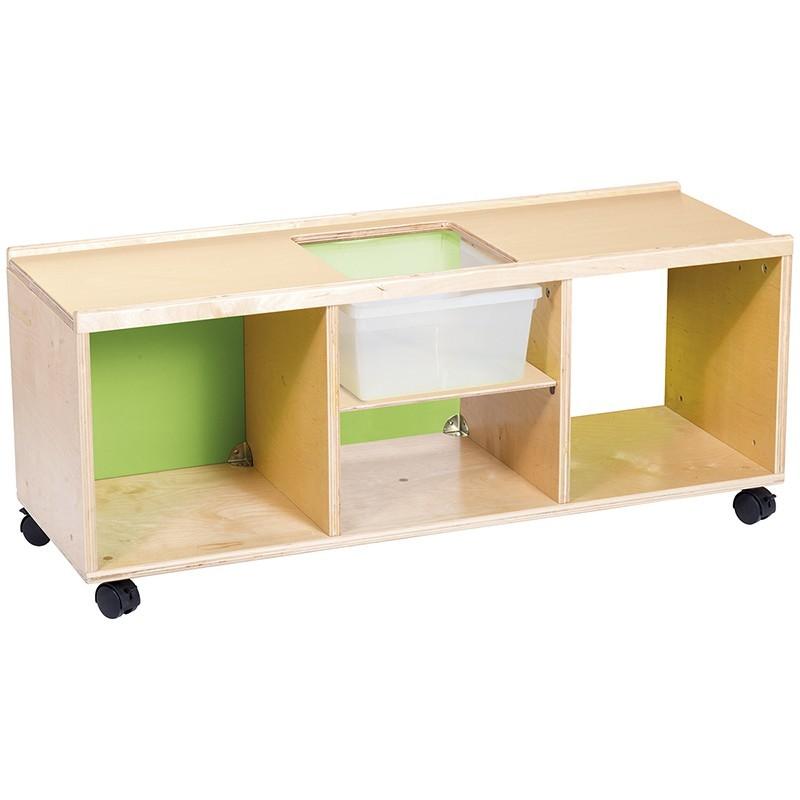Mueble bajo con ruedas para actividades Nathan