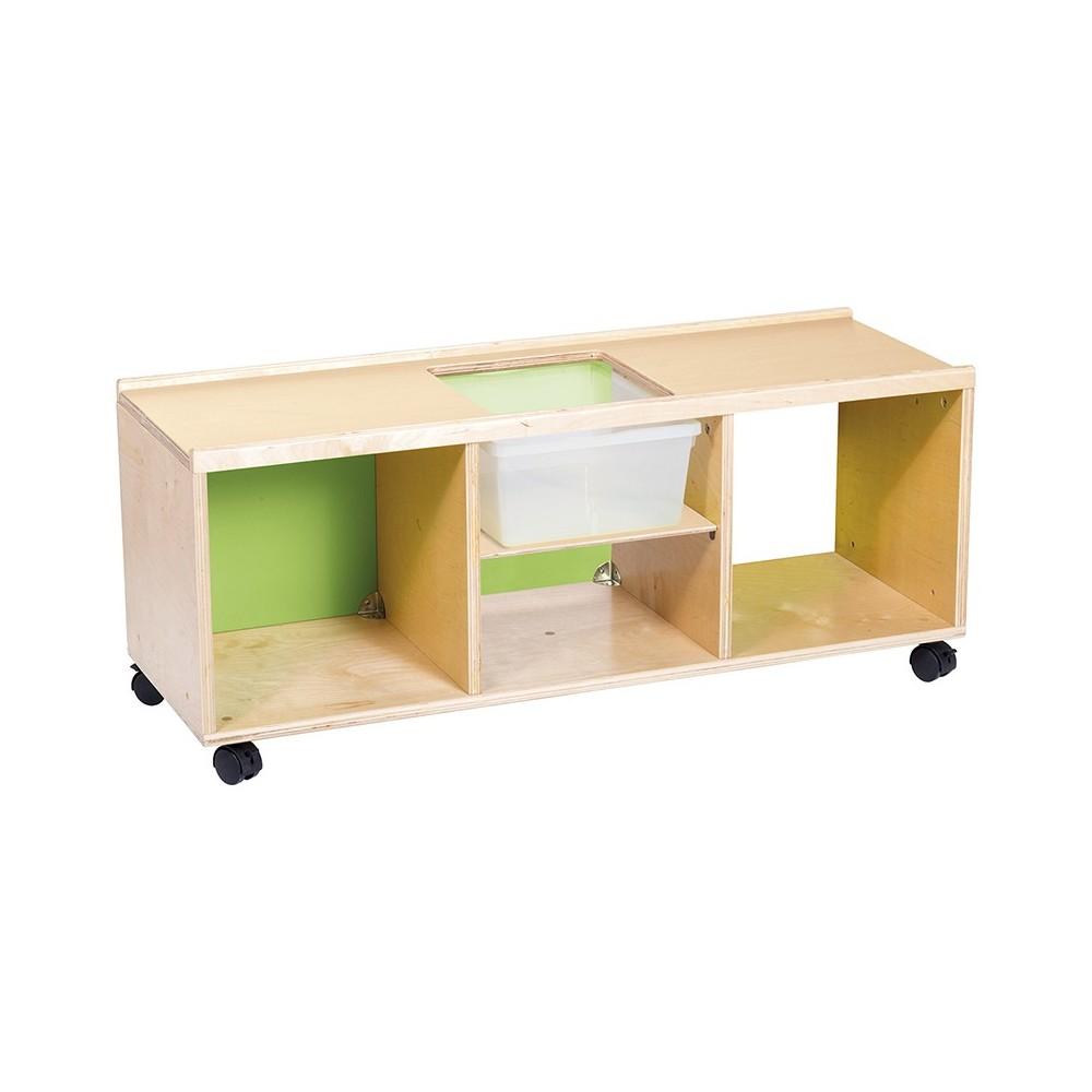 Comprar mueble bajo con ruedas para actividades - Ruedas para mueble ...