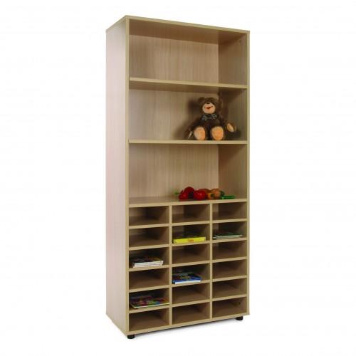 Mueble alto casillero y estantería