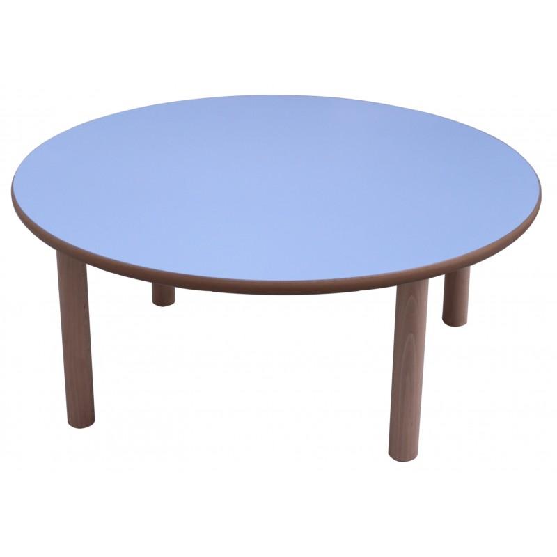 Mesa infantil redonda diam. 80 cm madera