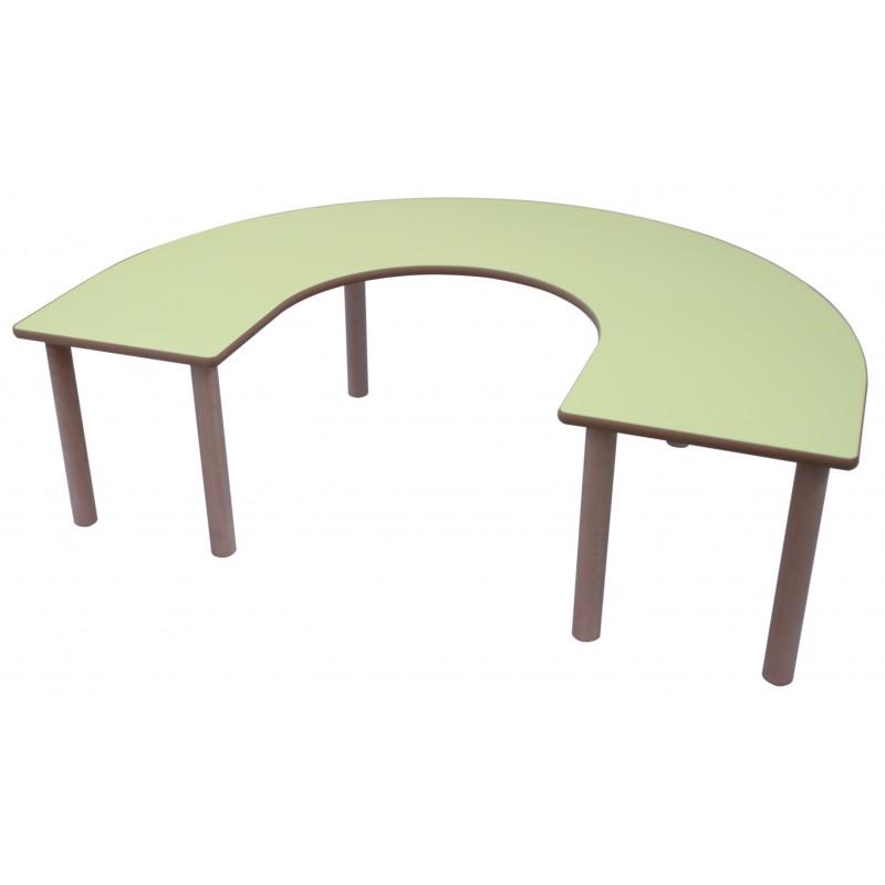 Mesa en U madera