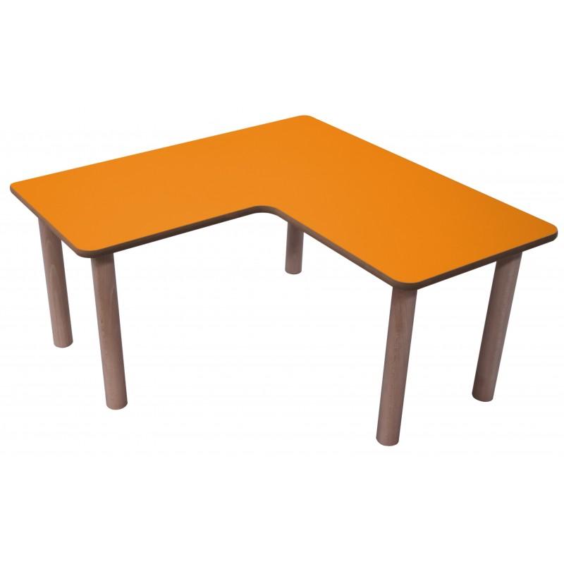 Mesa infantil en L madera