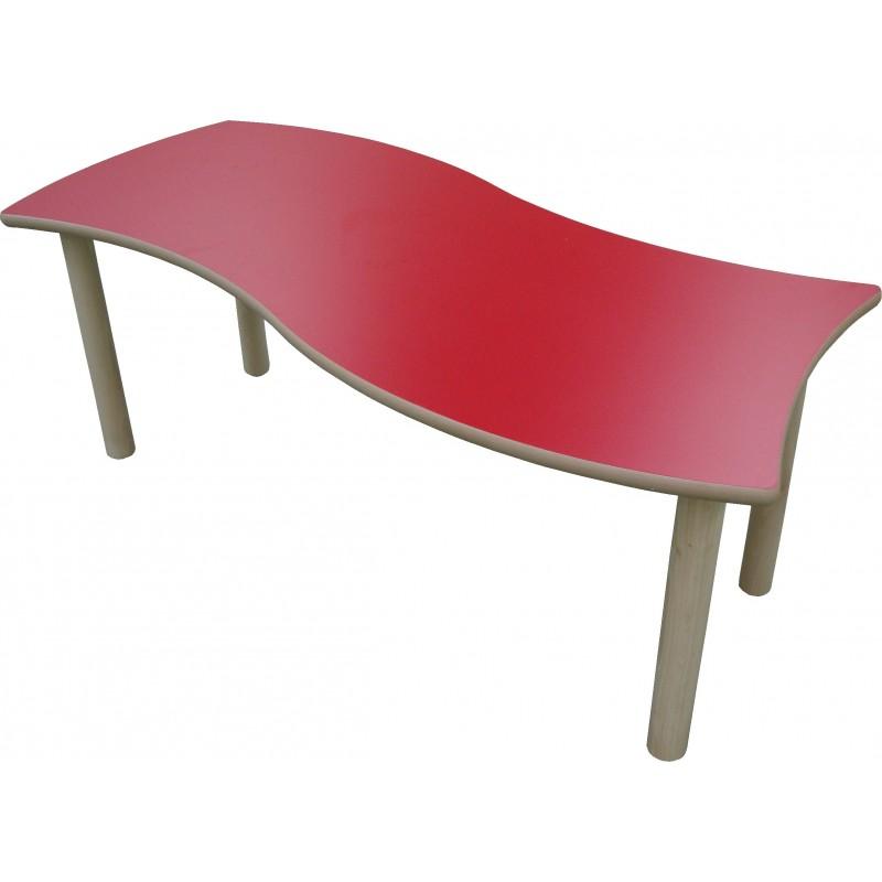 Mesa infantil rectangular ONDAS madera