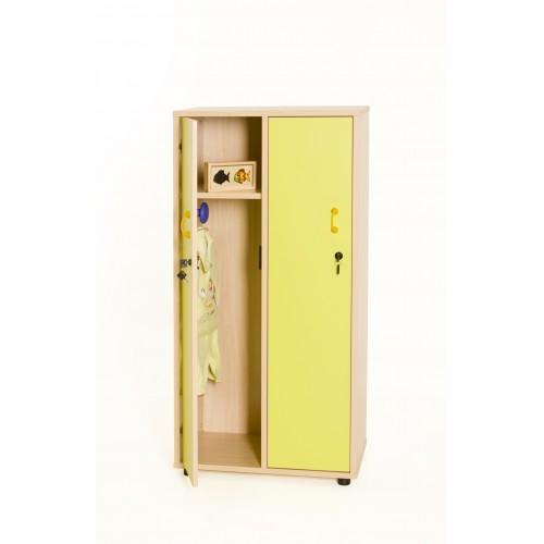 Mueble taquilla 2 niños 125 cm alto con llave TIRADOR PQÑO