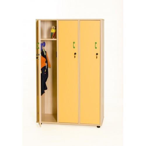 Mueble taquilla 3 niños 147 cm alto con llave TIRADOR PQÑO