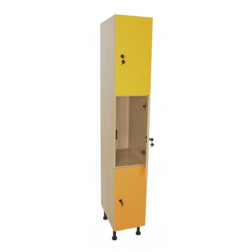 Mueble taquilla 3 puertas (ancho 30 cm)