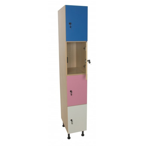Mueble taquilla 4 puertas (ancho 30 cm)
