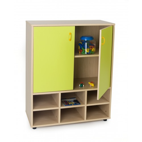 Mueble intermedio casillero y armario