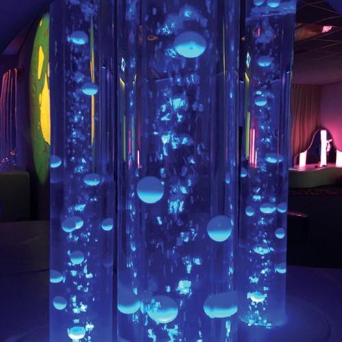 Bolas de colores para tubos de burbujas, Tubos de burbujas,sala