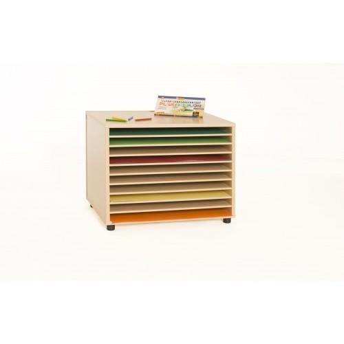 Mueble archivador de cartulinas horizontal