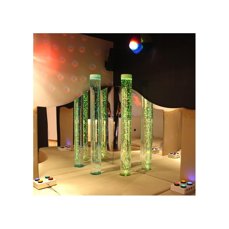 Espejos acrilicos, Tubos de burbujas,sala multisensorial
