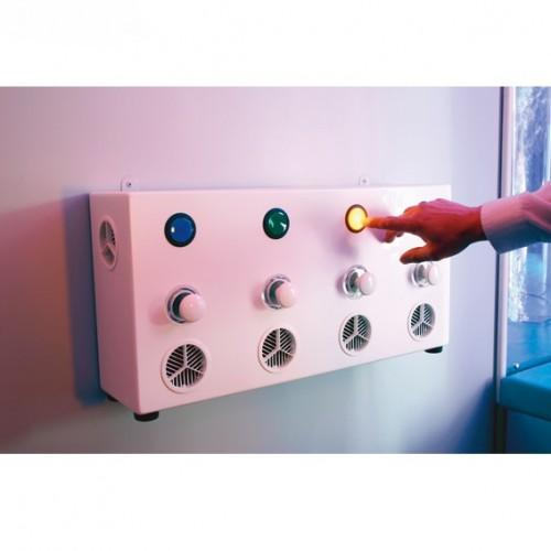 Panel de luces y aromas, Paneles interactivos,sala