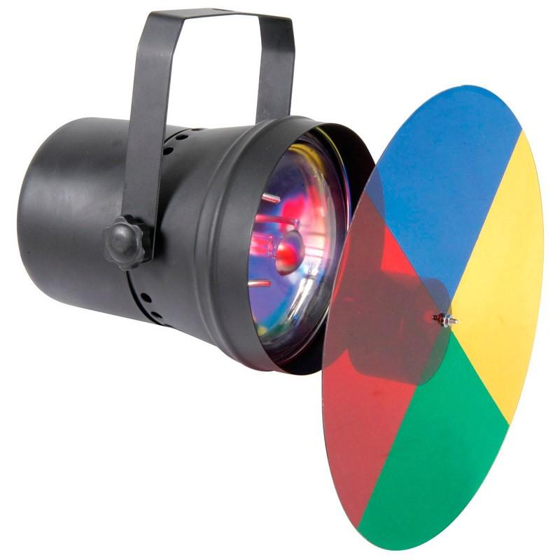 Foco de luz multicolor, Estimulación visual y luces,sala