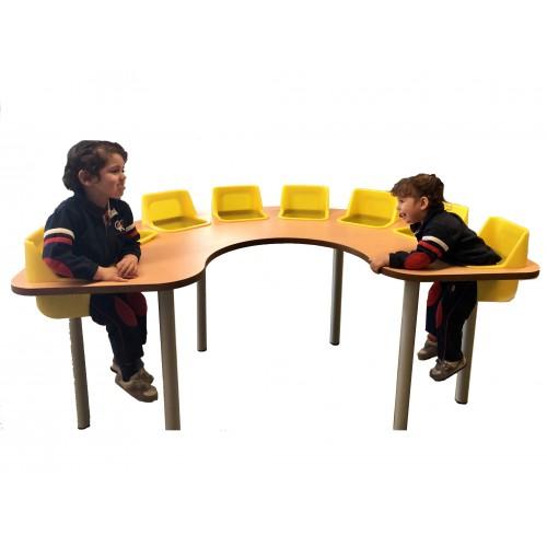 Trona 8 asientos - mesa guardería