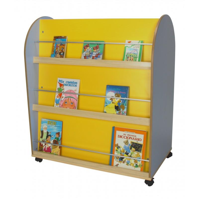 Mueble expositor de libros ovalado