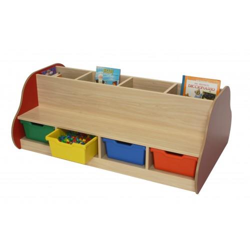 Banco librería doble 8 niños
