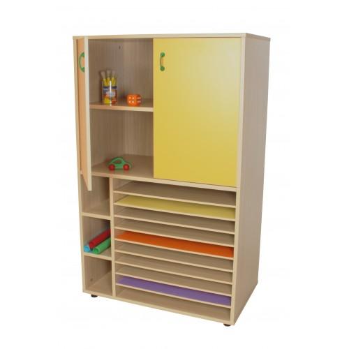 Mueble cartulinero y armario (ancho 90 cm)