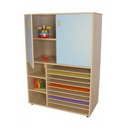 Mueble cartulinero y armario (ancho 105 cm)